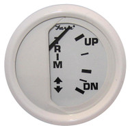 "Faria Dress White 2"" Trim Gauge (Mercury \/ Mariner \/ Mercruiser \/ Volvo DP \/ Yamaha-2001 and newer)"