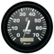 "Faria Euro Black 4"" Tachometer w\/Hourmeter - 7,000 RPM (Gas - Outboard)"