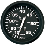 "Faria Euro Black 4"" Speedometer - 55MPH (Mechanical)"