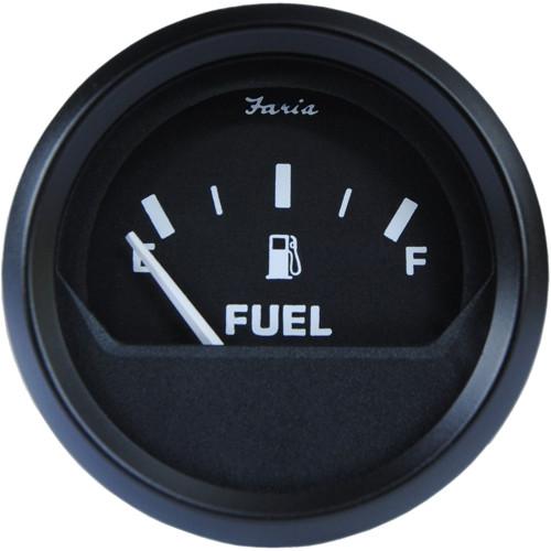 "Faria Euro Black 2"" Fuel Level Gauge (E-1\/2-F)"