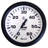 "Faria Euro White 4"" Tachometer - 6,000 RPM (Gas - Inboard & I\/O)"