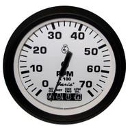 """Faria Euro White 4"""" Tachometer w\/Systemcheck Indicator - 7,000 RPM (Gas - Johnson \/ Evinrude Outboard)"""