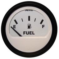 "Faria Euro White 2"" Fuel Level Gauge (E-1\/2-F)"