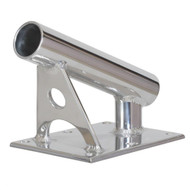 """Lee's MX Pro Series Fixed Angle Center Rigger Holder - 22 Degree - 1.5"""" ID - Bright Silver"""