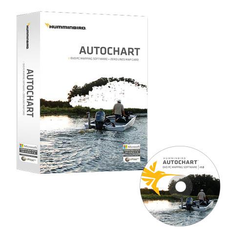Humminbird Autochart DVD PC Mapping Software w\/Zero Lines Map Card