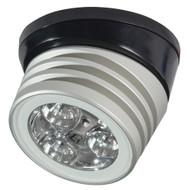 Lumitec Zephyr LED Spreader\/Deck Light -Brushed, Black Base - White Non-Dimming