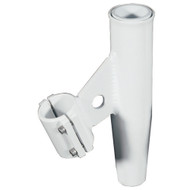 """Lee's Clamp-On Rod Holder - White Aluminum - Vertical Mount - Fits 1.660"""" O.D. Pipe"""