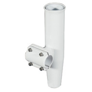"""Lee's Clamp-On Rod Holder - White Aluminum - Horizontal Mount - Fits 1.050"""" O.D. Pipe"""