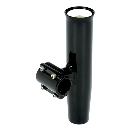 """Lee's Clamp-On Rod Holder - Black Aluminum - Horizontal Mount - Fits 1.315"""" O.D. Pipe"""