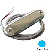 Shadow-Caster Courtesy Light w\/2' Lead Wire - 316 SS Cover - Bimini Blue - 4-Pack