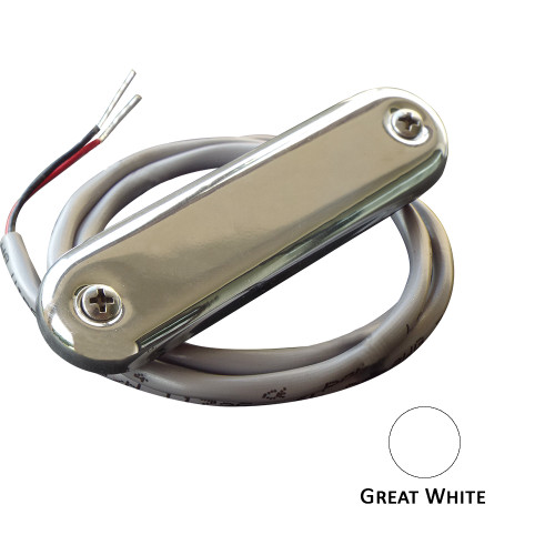 Shadow-Caster Courtesy Light w\/2' Lead Wire - 316 SS Cover - Great White - 4-Pack