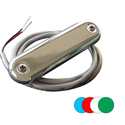 Shadow-Caster Courtesy Light w\/2' Lead Wire - 316 SS Cover - RGB Multi-Color - 4-Pack