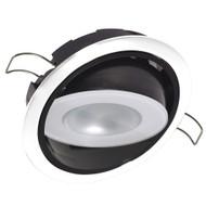 Lumitec Mirage Positionable Down Light - Spectrum RGBW Dimming - White Bezel
