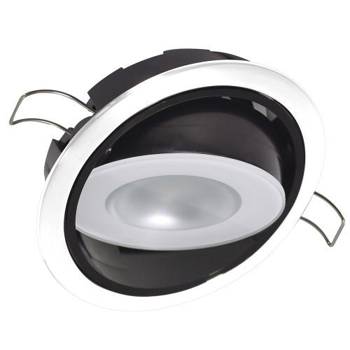 Lumitec Mirage Positionable Down Light - Warm White Dimming, Hi CRI - White Bezel