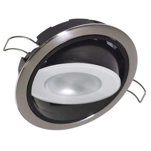 Lumitec Mirage Positionable Down Light - White Dimming - Polished Bezel