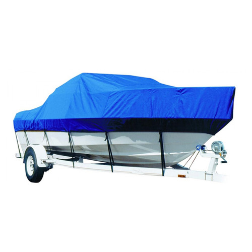 BaylinerDeck Boat 217 DB w/BOTH BiminiS Laid Out I/O Boat Cover - Sharkskin SD