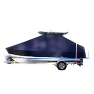 Scout Boats 262 SINGLE MOTOR WITH BOW ROLLER T-Top Boat Cover-Weathermax