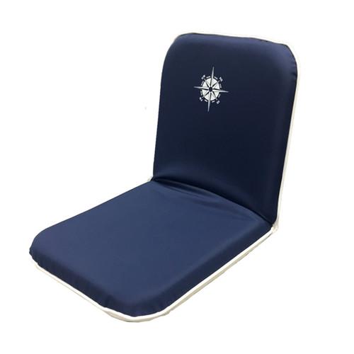 Navy Portable Folding Chair w/ Compass Logo