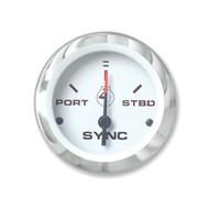 Sierra 65495P Lido Series Engine Sync Gauge