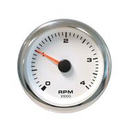 Sierra 62547P White Premier Pro Series Tachometer