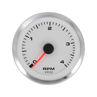 Sierra 62548P White Premier Pro Series Tachometer