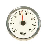 Sierra 62561P White Premier Pro Series Tachometer