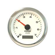 Sierra 62565P White Premier Pro Series Tachometer