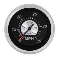 Sierra 67283P Black Sterling Series Speedometer