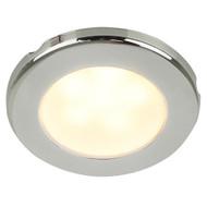 "Hella Marine EuroLED 75 3"" Round Screw Mount Down Light - Warm White LED - Stainless Steel Rim - 12V"