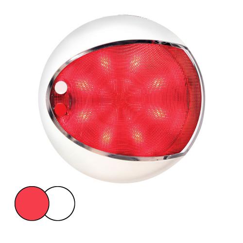 Hella Marine EuroLED 130 Surface Mount Touch Lamp - Red\/White LED - White Housing