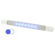 Hella MarineSurface Strip Light w\/Switch - White\/Blue LEDs - 12V