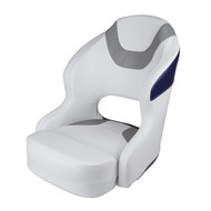Wise Baja Boat Bucket Seat - Brite White/Marble Grey/Midnight Navy