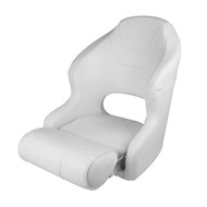 Wise Baja Boat Bucket Seat w/ Flip Up Bolster - Brite White