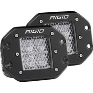 Rigid Industries D-Series PRO - Flush Mount - Diffused - Pair - Black