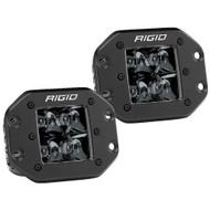 Rigid Industries D-Series PRO Flush Mount - Spot LED - Midnight Edition - Pair - Black