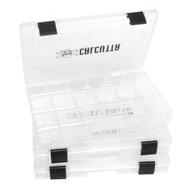 Calcutta 3600 Clear 2-Latch Tackle Tray - 3 Pack