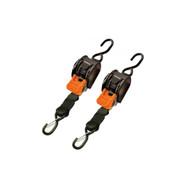 CargoBuckle Mini Ratchet Tie-Down - Dual S-Hooks