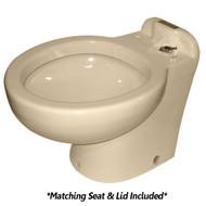 Raritan Marine Elegance Tall Angle Back Almond Household Style Freshwater 12V w\/Smart Toilet Control