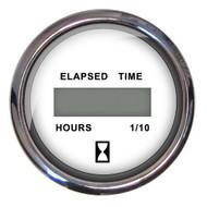 "Faria Chesapeake SS 2"" Digital Hourmeter - (10,000 Hours) (12-32 VDC) - White"