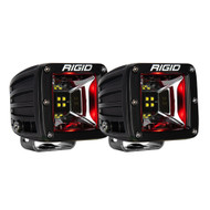 RIGID Industries Radiance Scene Lights - Surface Mount Pair - Black w\/Red LED Backlight