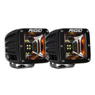 RIGID Industries Radiance Scene Lights - Surface Mount Pair - Black w\/Amber LED Backlights