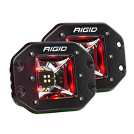 RIGID Industries Radiance Scene Lights - Flush Mount Pair - Black w\/Red LED Backlights