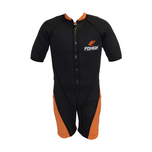 Barefoot International Orange/Black Short Sleeve Barefoot Suit