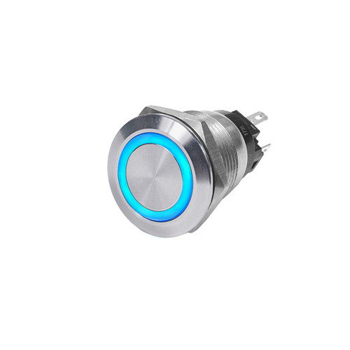 Blue Sea Momentary Push Button Switch - Off/On - Blue