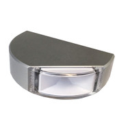 Lumitec Surface Mount Navigation Light - Classic Aluminum - Port Red
