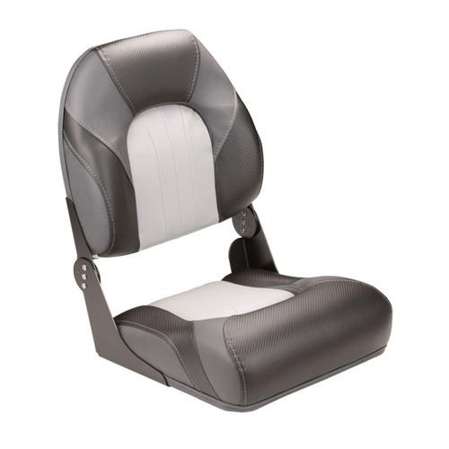 LCI High Back Folding Boat Seat Grey