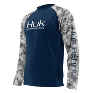 Huk SubPhantis Vented Long Sleeve - Navy