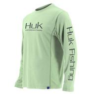 Huk Icon Long Sleeve Shirt - Key Lime