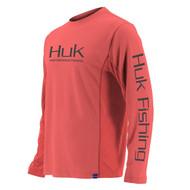 Huk Icon Long Sleeve Shirt - Coral