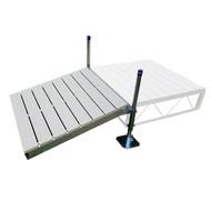 Patriot Docks Gray Aluminum Shore Ramp Kit 4' x 4'